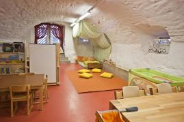 Cosy arched cellar room